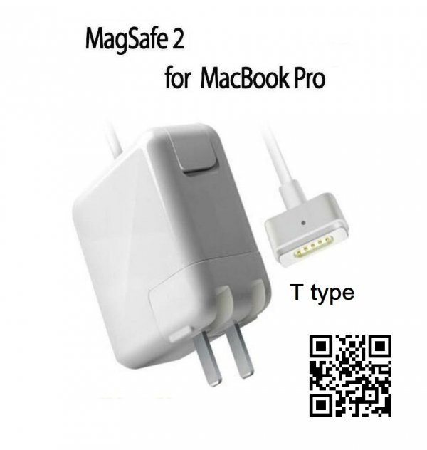 Replacement MacBook Air Charger 45W MagSafe 2 T-Tip Power Adapter