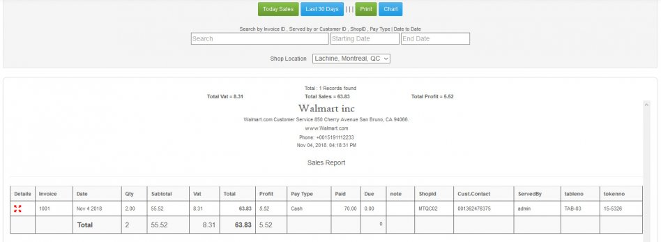 Restaurant Point of Sale - Rest POS WEB